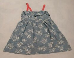 NWT Gymboree Tropical Breeze Floral Chambray Sundress Dress Girls