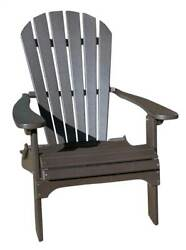 Phat Tommy Recycled Poly Resin Folding Adirondack Chair [ID 89314]