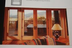 New Wood and Vinyl French Double Doors Weather Shield Brand