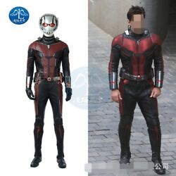 Ant-Man and the Wasp Ant-Man Scott Lang Cosplay Costume Leather Full Suit AnySiz