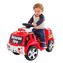 Fire Truck Ride On Toy Kids Battery Powered Vehicle Boys Girls Drive Toddler Red