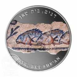 FISHES MOSAIC FROM BEIT SHE'AN Medal 2013 1 Oz Silver .999 38.7mm Medals