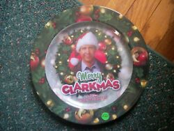CHRISTMAS VACATION CHEVY CHASE MERRY CLARKMAS PLASTIC SERVING PLATE.