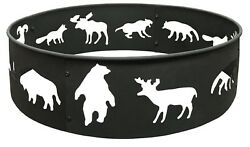 Fire Ring Steel Metal Animal Decorative Campfire Large 28