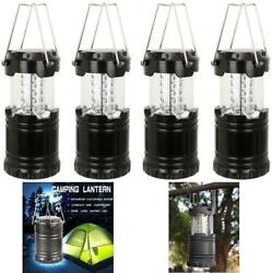 4 Count Collapsible LED Lanterns Tac Light Lamps Emergency Camping As Seen TV