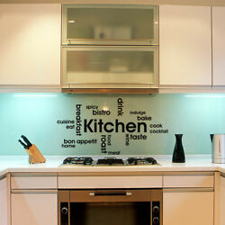 Vinyl Kitchen Rules Room Decor Art Quote Wall Decal Stickers Removable Mural DIY $8.69