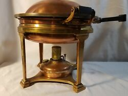 ANTIQUE COPPER LANDERS FRARY & CLARK ART DECO  CHAFING DISH BOWL