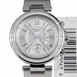 Casio Sheen Cruise Line SHE-5515D-7A SHE5515D Quartz Analog Womens Dress Watch