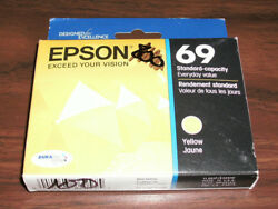 Sealed Box Genuine Epson 69 T0694 Yellow Ink Cartridge T069420 112017 $4.99