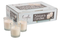 Votive Candles In Glass Memorial White votive candles Unscented Burns 24 Hours