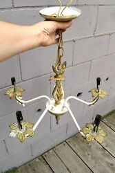 antique five arm floral chandelier $72.00