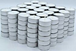 Tea Light Candles 200 Pack 4 hours burn White Unscented $20.00