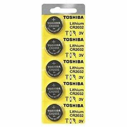 5 x New Original Toshiba CR2032 CR 2032 3V LITHIUM BATTERY BR2032 DL2032 Remote $3.08