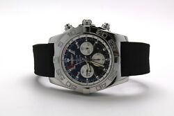 Breitling Chronomat GMT 47 Stainless  Black Dial AB0410 Auto Mens Watch Date