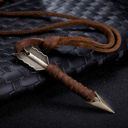 Vintage Men Leather Arrow Punk Necklace Pendant Choker Chain Charm Jewelry Gift
