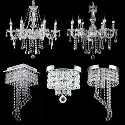 Modern Chandelier Crystal Glass LED Ceiling Light Fixture Pendant Hanging Lamp $59.99