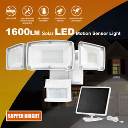 Solar Security Light Outdoor 1600LM Solar LED Motion Sensor 5500K White Light