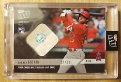 2018 Topps NOW MLB #553A Shohei Ohtani Base Relic First Multi HR Game #24 99 $279.00