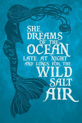'She Dreams Of The Ocean Iii' by Gareth Clegg Painting Print on Wrapped Canvas