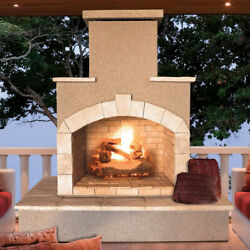 Cal Flame Steel Gas Outdoor Fireplace FMN1071