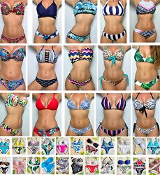 Bikini Swimsuit New Women Two Piece Bathing Set Padded Swimwear High Quality $14.97