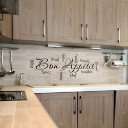 Vinyl Kitchen Rules Room Decor Art Quote Wall Decal Stickers Removable Mural DIY $7.90