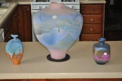 Tom Krueger Settlement Clay Studio one-of-a-kind contemporary pottery vases