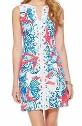 Preowned Lilly Pulitzer Janice Shift Dress in She She Shells Sz 6