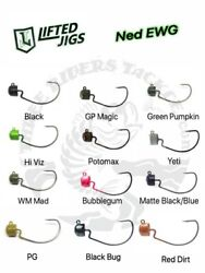 Lifted Jigs 1 0 EWG NED Rig Jigheads Choose Size and Color $4.99