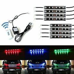 8pcs RGB Multi-Color Truck Bed Cargo Area LED Lighting Kit w Wireless Remote