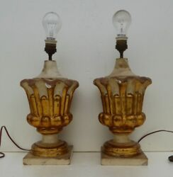 antique italian gilded carved wooden lamps church chapel ornaments early 19th $1200.00