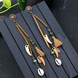 Creative Women Bohemian Earrings Vintage Long Tassel Fringe Boho Dangle Jewelry