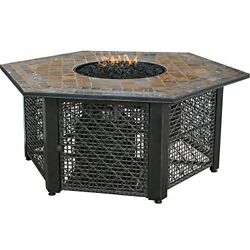 Endless Summer GAD1374SP LP Gas Outdoor Firebowl with Slate Tile Mantel
