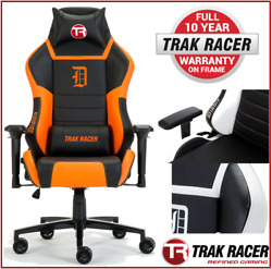 #Trak Racer DIABLO Gaming Chair - Office Computer Racing PU Leather Executive Bl
