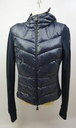 Moncler Grenoble Maglia Cardigan Navy Blue Jacket Women's Size Small