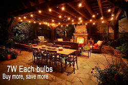 LOT Warm  Light Outdoor Garden Globe Party Bulb Patio String 100FT Clear G50 EQ