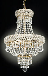 FRENCH EMPIRE CRYSTAL CHANDELIER CHANDELIERS LIGHTING D $159.00