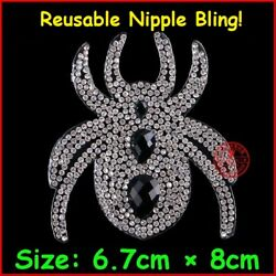 USA! Exclusive Spider Crystal Nipple Pasties Women Bra Breast Adhesive Stickers