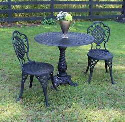 Bistro Set of Two Chairs and Table for Garden Porch or Restaurant Cafe'