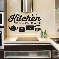 Removable KITCHEN Wall Sticker Vinyl Decal Art Mural Kitchen Home Decor $4.99