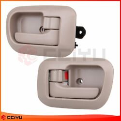 2Pcs Beige Door Handles Interior Inside Front RH LH For 1998-2003 Toyota Sienna