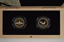 2017 Canada $1 .9999 Pure Gold 2 Coin Set 30th Anniversary of the Loonie 156041