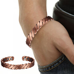 Twisted Copper Magnetic Bracelet Carpal Tunnel Arthritis Pain Relief wPouch