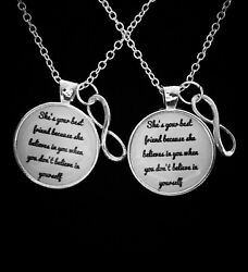 Best Friends Necklace Set She Believes In You Partners In Crime Gift Jewelry
