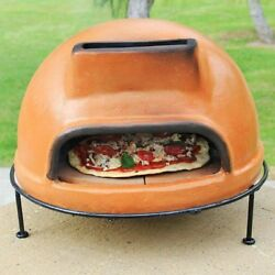Outdoor Pizza Kitchen Oven Wood Fired Clay Cooking Gifts Stone Patio Pit Flame