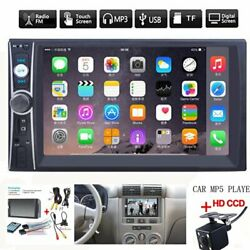 2DIN 7quot; HD Car Stereo Radio MP5 Player Bluetooth Touch Screen With Rear Camera $60.99