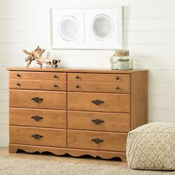 Rustic Pine 8 Drawer Dresser Chest Drawers Clothes Storage Furniture Wooden