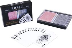 2-Pack of Royal 100% Plastic Playing Cards Set - Washable Waterproof
