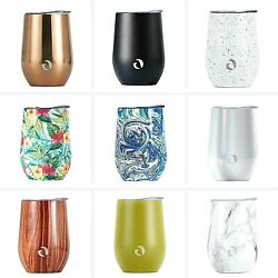 DRINCO Wine Tumbler Glass Stainless Steel Vacuum Insulated With Lid 12oz $17.99