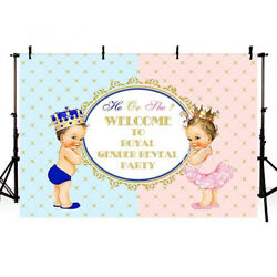 Gender Reveal Party Backdrops Photography Boy or Girl Prince or Princess Banners $12.99